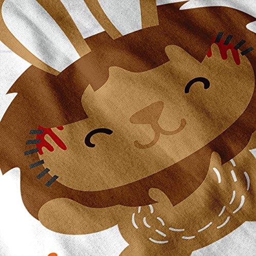 Hase Katze Löwe Cool Komisch Niedlich Tier Damen S-2XL Muskelshirt | Wellcoda Weiß