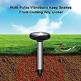 YASHUS Solar Garden Snake Repellent for Outdoors, Away Solar Ultrasonic