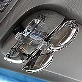 Car - Doppio gancio per occhiali o porta biglietti, per lunetta parasole