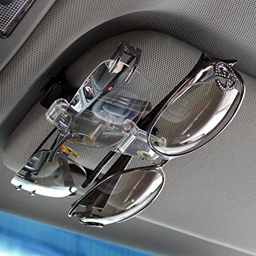 Auto Visier Clip Premium Double Gläser Sonnenbrille Clip Card Ticket Holder Clip
