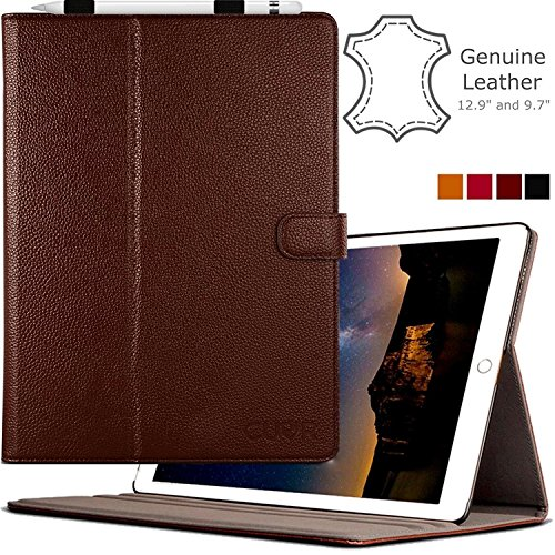 ipad-pro-case-genuine-leather-in-brown-by-cuvr-129-with-auto-sleep-pencil-holder-and-multiple-standi