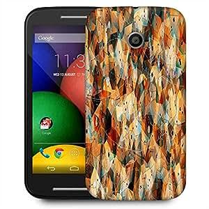 Snoogg Geometric Laze Designer Protective Phone Back Case Cover For Motorola E2 / MOTO E22