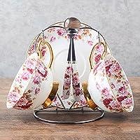 Creativo della tazza di caffè continentale Cina di osso della tazza di caffè con piattino della tazza di caffè inglese Afternoon Tea Tea Set ( colore : #10 , dimensioni : 2 Sets )