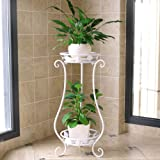 Crafter Metal Tall Plant Stand Indoor/Outdoor Metal Plant Stand, Flower Pots Holder, Plant Display Rack, Stand Shelf…