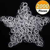 2000 Stücke Anti Aging Mini Klare Gummibänder Haarbänder Flechten Gummibänder Krawatten