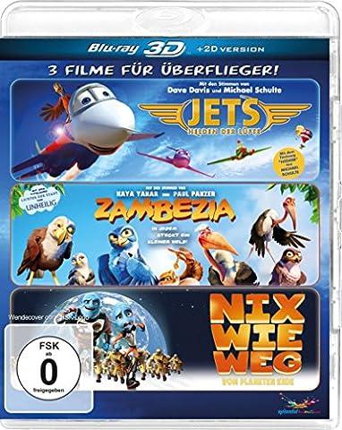 Überflieger-Box - Zambezia, Jets, Nix wie weg [3D Blu-ray]