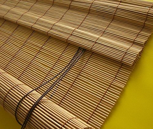Bambusrollo Seitenzug Kirschbaum Holzrollo Sichtschutz Fenster Rollos Breite 60-140 cm Länge 160 cm Raffrollo (80 x 160 cm)
