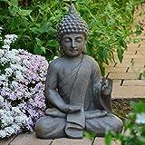 Bouddha Statuette Chinois 54cm décoration zen pour intérieur extérieur jardin zen, feng shui