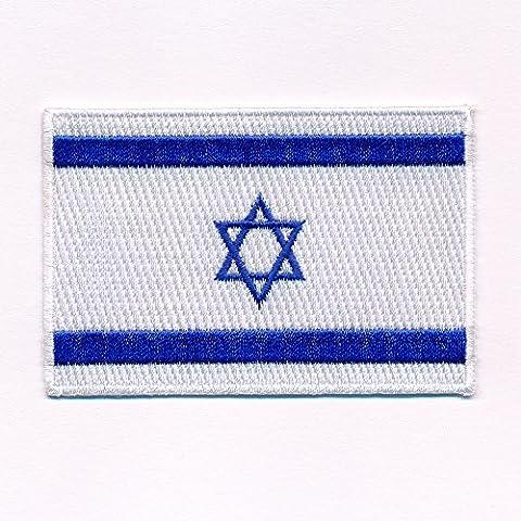 60 x 35 mm Israel Jerusalem Juden Flag Flagge Patch Aufnäher Aufbügler 0634 (35 Flags)