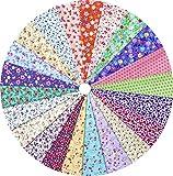 grannycrafts 2220x 30cm oben Baumwolle gedruckt Craft Stoff Bundle Squares Patchwork Fusseln Print Tuch Stoff Tissue DIY Nähen Scrapbooking Quilten