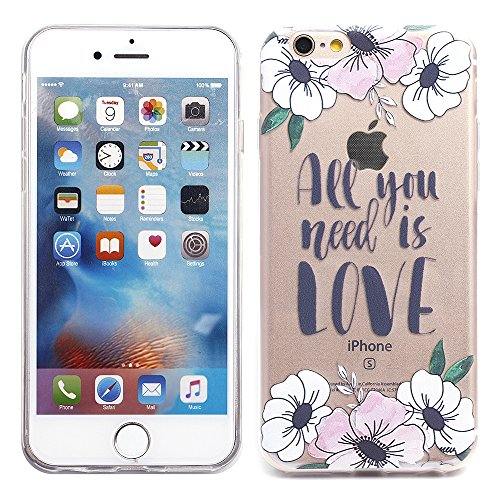 """iProtect TPU Schutzhülle Apple iPhone 6 6s (4,7"""") Soft Case - flexible Hülle in transparent Avocado Design Softcase all you need"""
