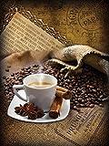 Fototapete Tapete Wandbild Vlies | Welt-der-Träume| Kaffeebohnen und Gewürze | VEA (206cm. x 275cm.) | Photo Wallpaper Mural 2245VEA-AW | Kaffe Duft Kaffeebohnen Tasse Braun Kaffeemühle