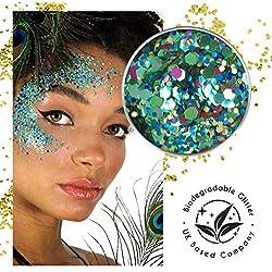 Ecostardust pavone biodegradabili glitter ✶ festival Bioglitter cosmetici viso corpo capelli unghie