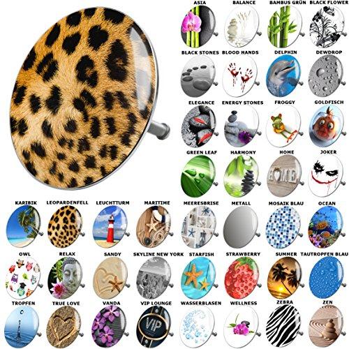 Badewannenstöpsel Leopardenfell, viele schöne Badewannenstöpsel zur Auswahl, hochwertige Qualität ✶✶✶✶✶ (Leopard Badewanne)