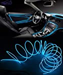 FABTEC EL Wire Car Interior Light Ambient Neon Light for Cars With Adapter (Blue, 5 Meter)