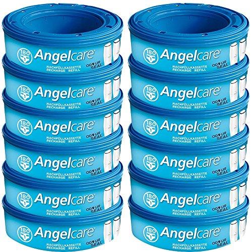 Angelcare 12 Nachfüllkassetten für Windeleimer Comfort, Deluxe und Comfort Plus