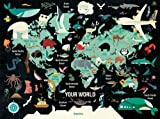 Map of the World Family Puzzle: 1000 Piece Jigsaw Puzzle