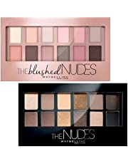 Maybelline New York The Blushed Nudes Palette Eyeshadow, 9g + Maybelline New York The Nudes Palette Eyeshadow, 9g