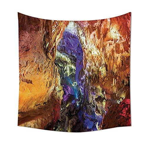 iPrint Natural Cave Decorations Tapestry Inside View Of Prometheus Cave in States Dark Karst Underground Myst Artful Nature Bedroom Living Room Dorm Decor Multi