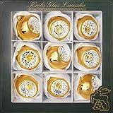 Cáncer Cristal Lauscha-Reflex Bolas-Bolas de Navidad-8cm