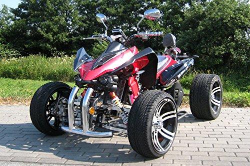 Quad Speedslide 250cc 4-Gang + Rückwärts carbon/rot - mit Straßenzulassung für 2 Personen 190 X 120 X 100 cm