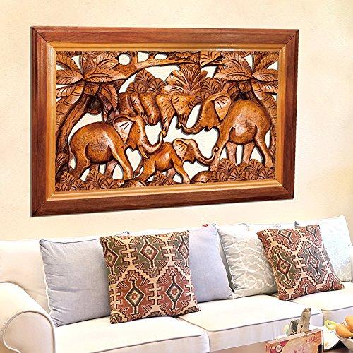 ALLDOLWEGE Crear un medio de elefantes tallados en la pared de papel...