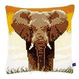 Vervaco elefante en la sabana cojín de punto de cruz