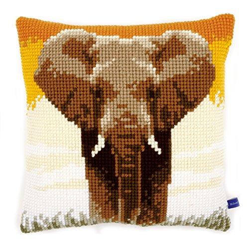 Vervaco 'Elefante en la Sabana cojín de Punto de Cruz