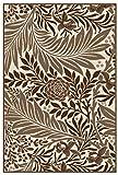 Karatcarpet Moderner Designer Teppich Sisal Optik Kollektion Natura 943/19 Blume Dunkel Braun Schoko, Beige (300 x 400 cm)