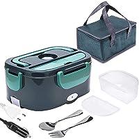 Lunch Box Chauffante Electrique 1.5L, Boîte Chauffante Repas Pour Voiture Camion Bureau Travail 220V 12V/24v 45W…