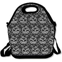 Preisvergleich für Halloween Kürbis Muster Lunch Tasche für Herren Damen Kinder–Beste Reisetasche