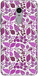 The Racoon Lean printed designer hard back mobile phone case cover for Xiaomi Redmi Note 4. (Leafy Laye)