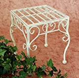 Sgabello fiori Romance 25cm Porta fiori 20217 angolare Porta-piante Tavolinetto bianco