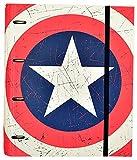 Grupo Erik Editores   Carpeta 4 Anillas Troquelada Premium Marvel Captain America Shield