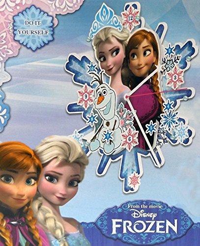 Brigamo 07961 - Frozen Eiskönigin Elsa & Anna Holz Wanduhr Bastelset für Kinder