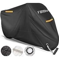 Favoto Housse Protection pour Moto Couverture Polyester 210T Résistant aux déjections d'oiseaux, à l'eau, à la Poussière…