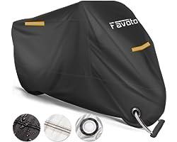Favoto Motorhoes Waterdichte XXXL 265cm lang, Bestand Tegen Water, Stof, Regen, Wind, om je Motoren/ Scooters/ Bromfietsen/ F