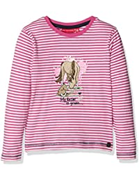 Salt & Pepper Longsleeve Horses Stripe - T-shirt - Fille