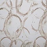 Schiebegardinen Flächenvorhang Gardinenstoff Vorgangstoff Meterware für Gardinen, Vorhänge, etc. - Halbtransparent Panelo Happy Wash Grafik Braun MUSTER