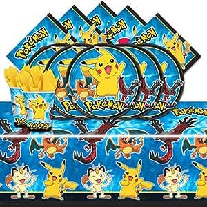 Kit de fête Pokemon Pikachu pour 8 personnes