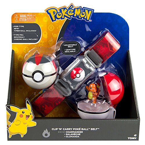 Pokemon Clip N Carry t18889d2charmander Gürtel mit Glumanda Figur und Fire Typ Poke Ball