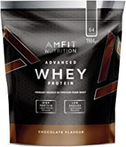 Amazon Brand - Amfit Nutrition Advanced Whey Protein Powder - 992 g (Chocolate, 32 Servings)