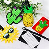Vamei 5 Pack Travel Luggage Tags Summer PVC Suitcase ID Labels Hawaii Travel ID Bag Tag with Buckle