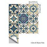 MIAORUI kreative inneneinrichtungsgegenstände dekorative wandbilder / marokko stil fliesen / schlafzimmer wohnzimmer wänden aufkleber,20 * 20cm werden 10 stück