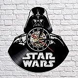 LKCAK Orologio da Parete in Vinile da Vinile Modello Star Wars per Uomo, Donna e Bambino