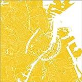 Poster 13 x 13 cm: Stadtplan von Kopenhagen von 44spaces -