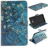 Skytar Galaxy Tab A6 7'' Schutzhülle,Case für Samsung SM-T280N,Folio Case Cover mit Support-Funktion PU Leder Hülle für Samsung Galaxy Tab A6 7.0 Zoll 2016 (SM-T280N / SM-T285N) Tablet,Aprikosenbaum