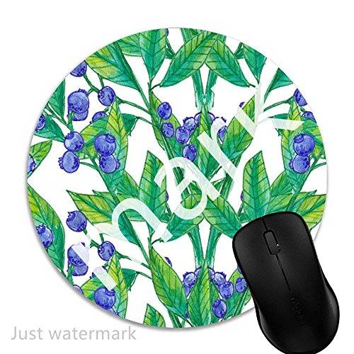 Maus-Pad Aquarell botanische Beeren,7 inch rund Mouse-Pad mit rutschfester Unterlage Standard 1V1559