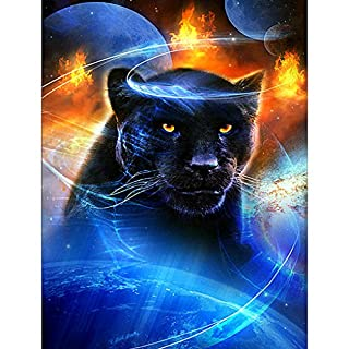 JAGENIE Diamant Broderie 5d DIY Peinture Panthers au point de croix Home Décoration murale 30 x 40 cm 30 x 40 cm