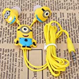 Stylish Despicable Me The Minion Pattern General 3.5mm In-ear Earphone for Various Mobile Phones